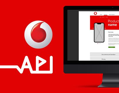 Vodacom API Website UX and Branding