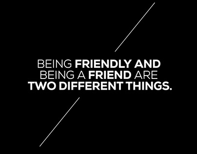 Being Friendly
