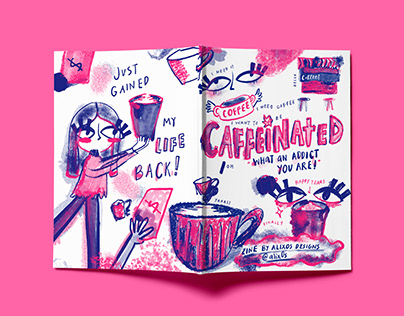Caffeinated Booklet Zine Design
