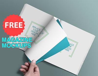 Free Magazine Mockup V2
