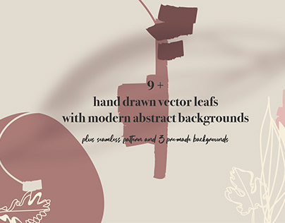 Hand Drawn Vector Leafs