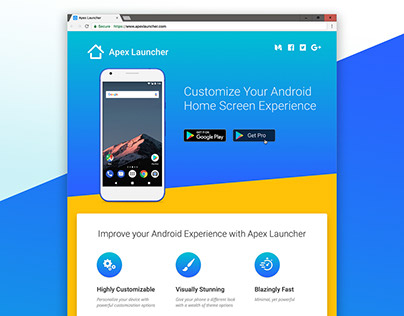 Apex Launcher Product Website