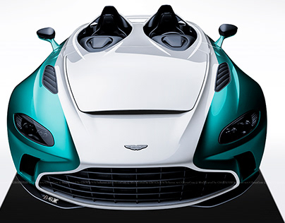 2020 Aston Martin V12 Speedster White & Tiffany Blue