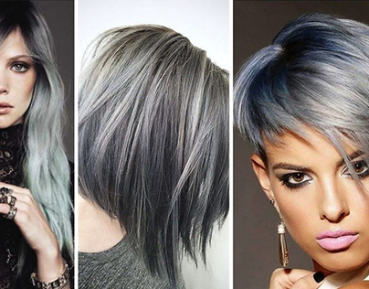 Silver and platinum: how to choose ash hair dye