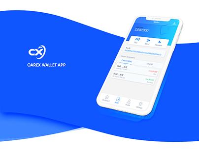 Carex Wallet App UI