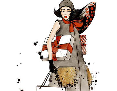 Christmas fashion illustration
