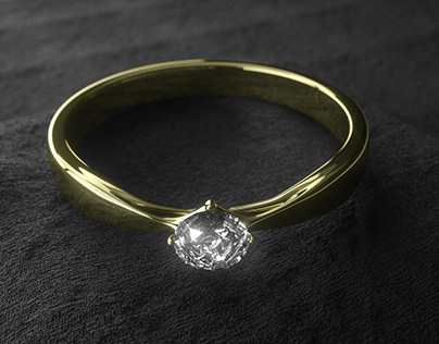 a ring with a diamond