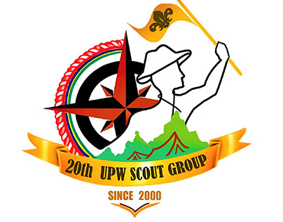 Emblem Logo for 20th UPW Scout Group curepipe Mauritius