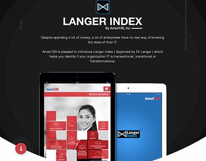 Langer Index ipad app