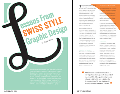 Lessons from Swiss Style Graphic Design - Typesetting