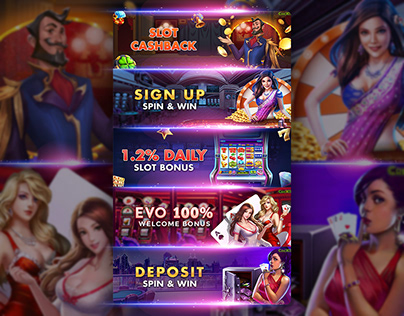 Slot Game Banner Designs
