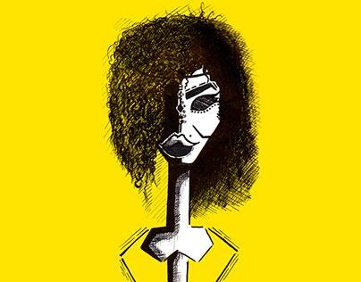 ink .. black&yellow..