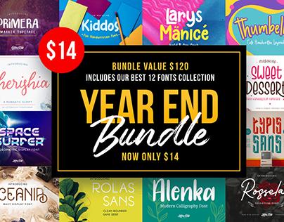 Year End Font Bundle