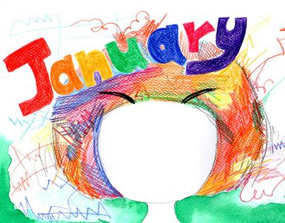 月曆 monthlycalendar / illustration