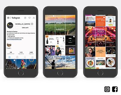 Web, redes y avisos publiciatarios Revista Un Camino
