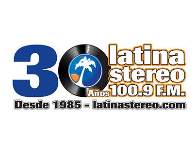 LATINA STEREO 30 YEARS BRANDING