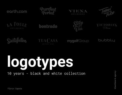 logotypes - 10 years - black and white