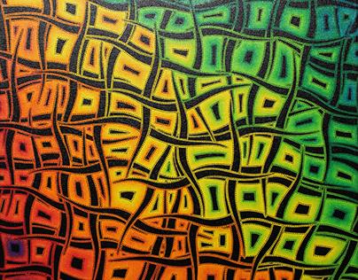 Tableau moderne : Mouvements de couleurs.