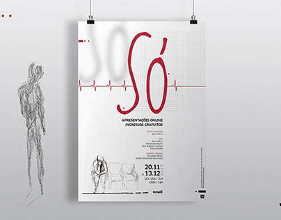 Só - Teatro - Design gráfico