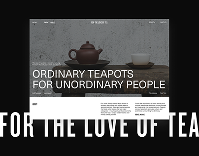 For the Love of Tea | E-commerce | Shop
