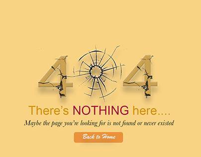 404 Error page UI Design