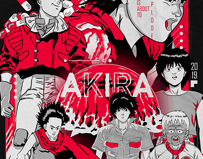 AKIRA II Anime Poster RED Edition