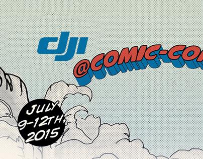 DJI Comic-con 2015 and ad banners