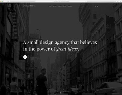 The elementi-design Website.