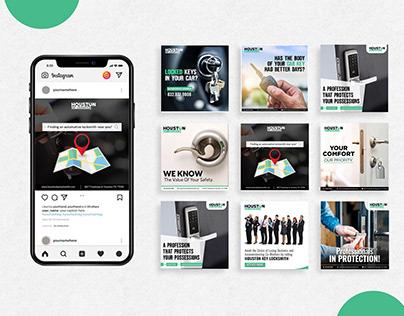 Social Media designs for a LockSmith Agency