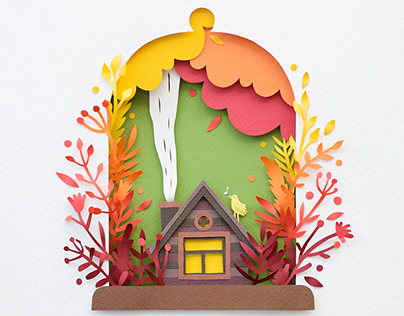 Cozy Fall | Paper art