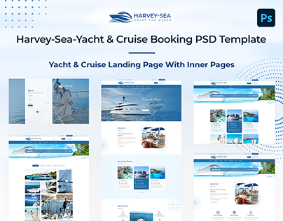 Landing Page With Inner Pages - Yacht & Cruise