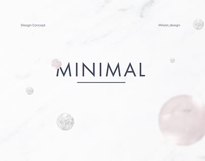 Design Concept. Minimalistic jewelry online-course