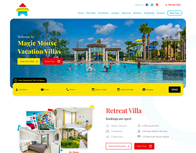 Vacation Villa & Resort Website Design