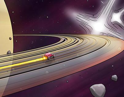 Saturn à gauche