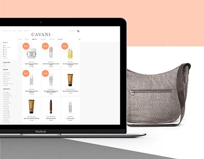 Cavani Boutique Website