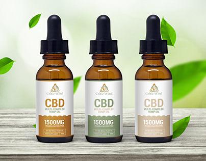 CBD Multi Complex Hemp Oil Label Design