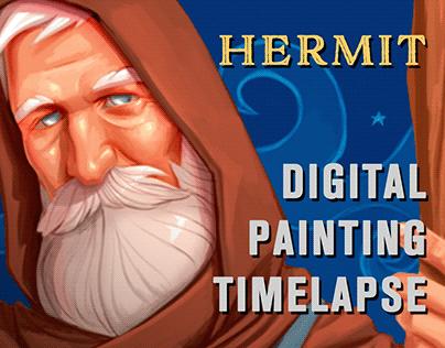 Hermit - Digital Painting (w/Timelapse)
