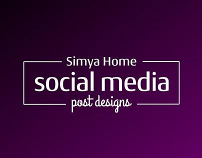Simya Home Sosyal Medya Post Tasarımları