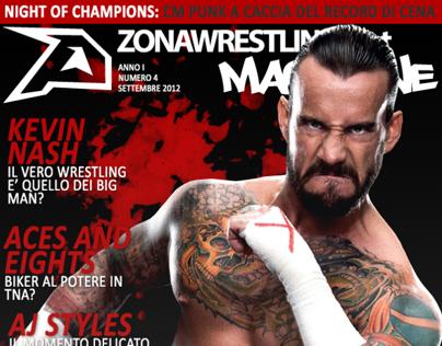 Cover Art per lo Zona Wrestling Magazine