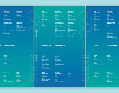 Sochi Winter Olympics Schedule Poster