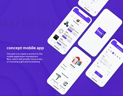 Concept mobile app for marketplace Beru/yandex