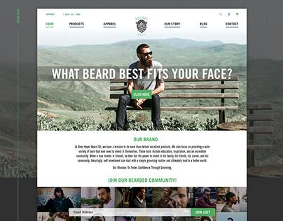 Deez Hops! Beard Oil Website Design