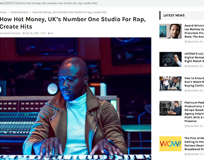 UK's Number One Studio For Rap
