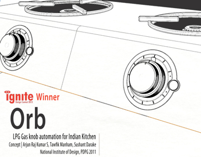 Orb   LPG Gas knob automation for Indian kitchen