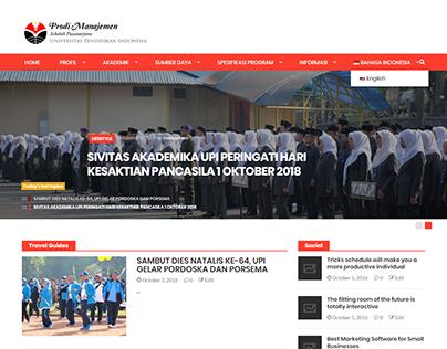 Manajemen Sekolah Pascasarjana UPI Website