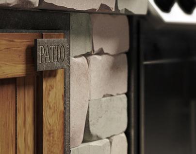 Bernstone blocks patio propain BBQ Station .Kyiv 2020