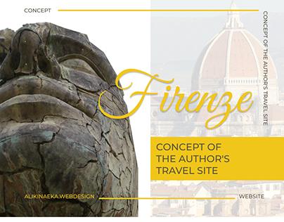 FIRENZE.TUR. Website concept for travel agency.