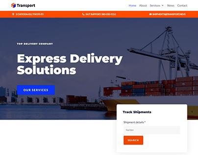 Transport, Delivery service WordPress website