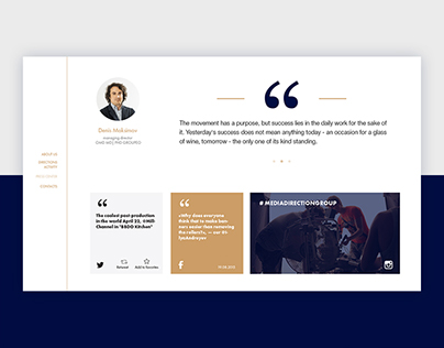 Media Direction Group web-site concept