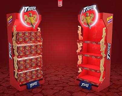 Tiger Alphabets Biscuit OCD Display